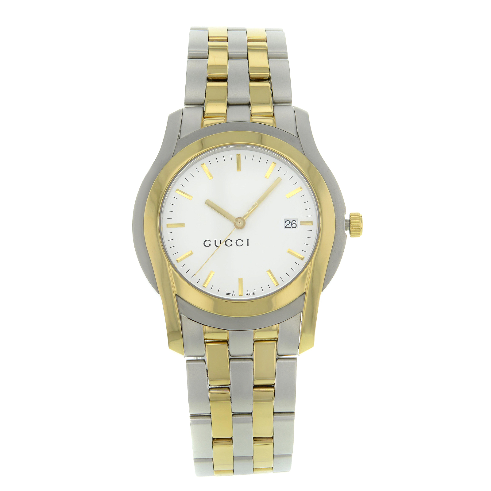048f43f05d5 Gucci 5500 YA055216 Stainless Steel Gold Plated Quartz Men s Watch