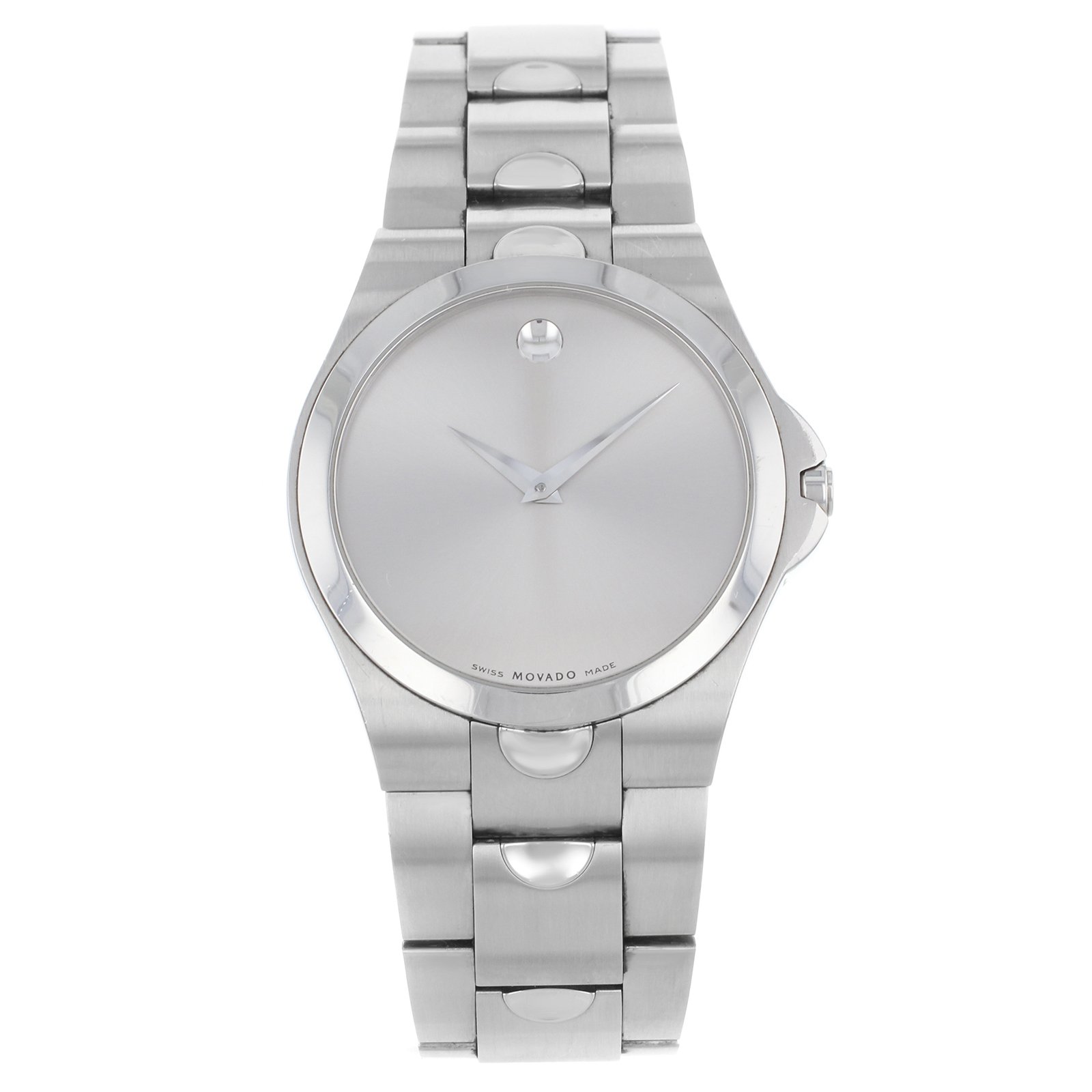 movado watches mens jacobtime luno stainless watch steel