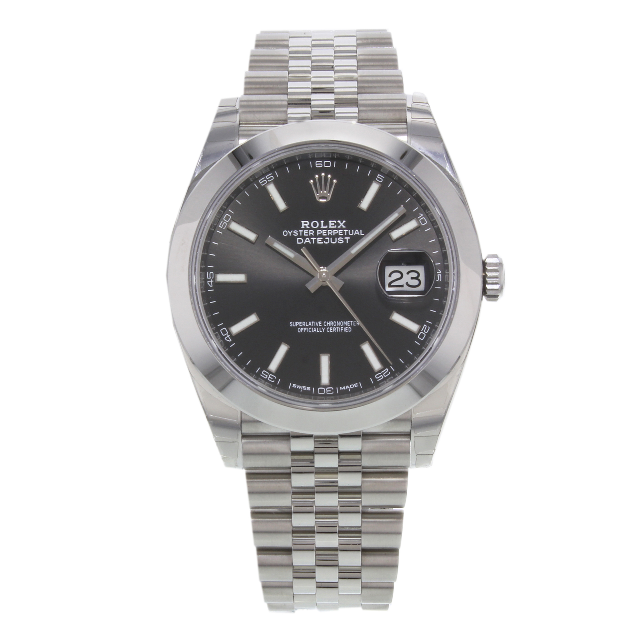Rolex Datejust 41 126300 bkij Black Index Stainless Steel Automatic Mens Watch