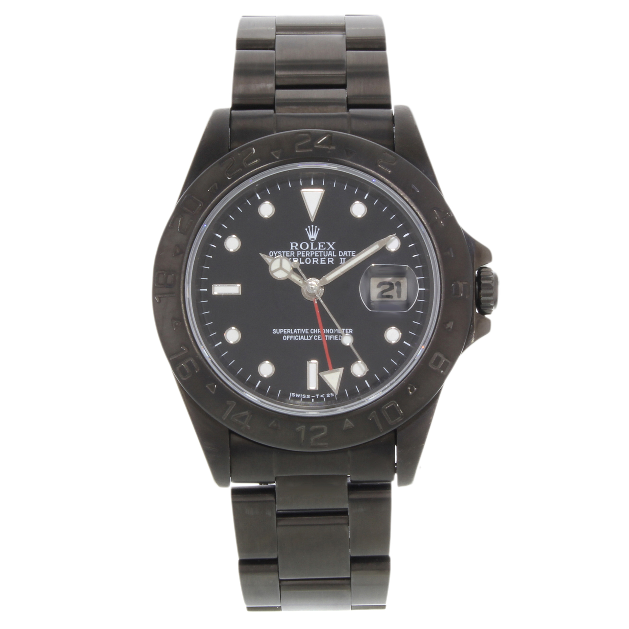 steel watches gmt tegimented product eta watch sinn pvd utc s black