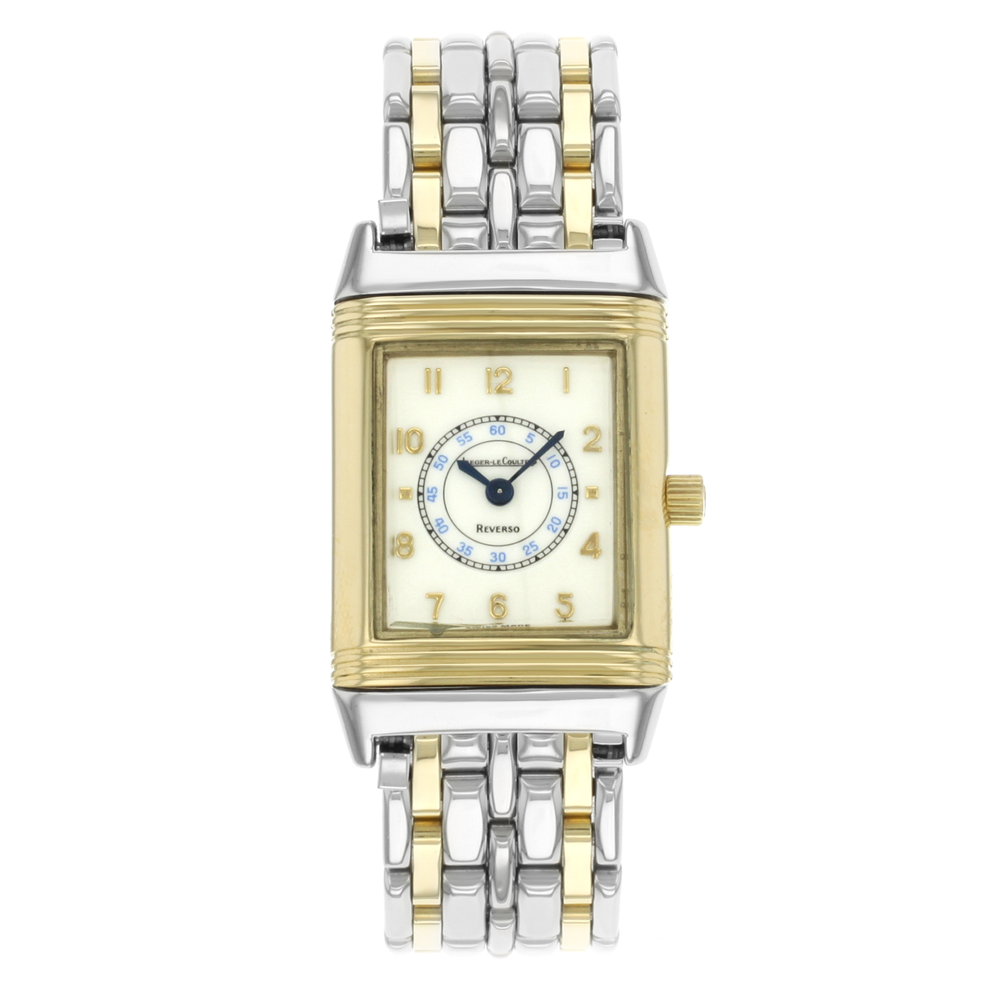 9170ed69f808 Jaeger-Lecoultre Reverso Steel 18K Yellow Gold Cream Dial Quartz Watch  260.5.08