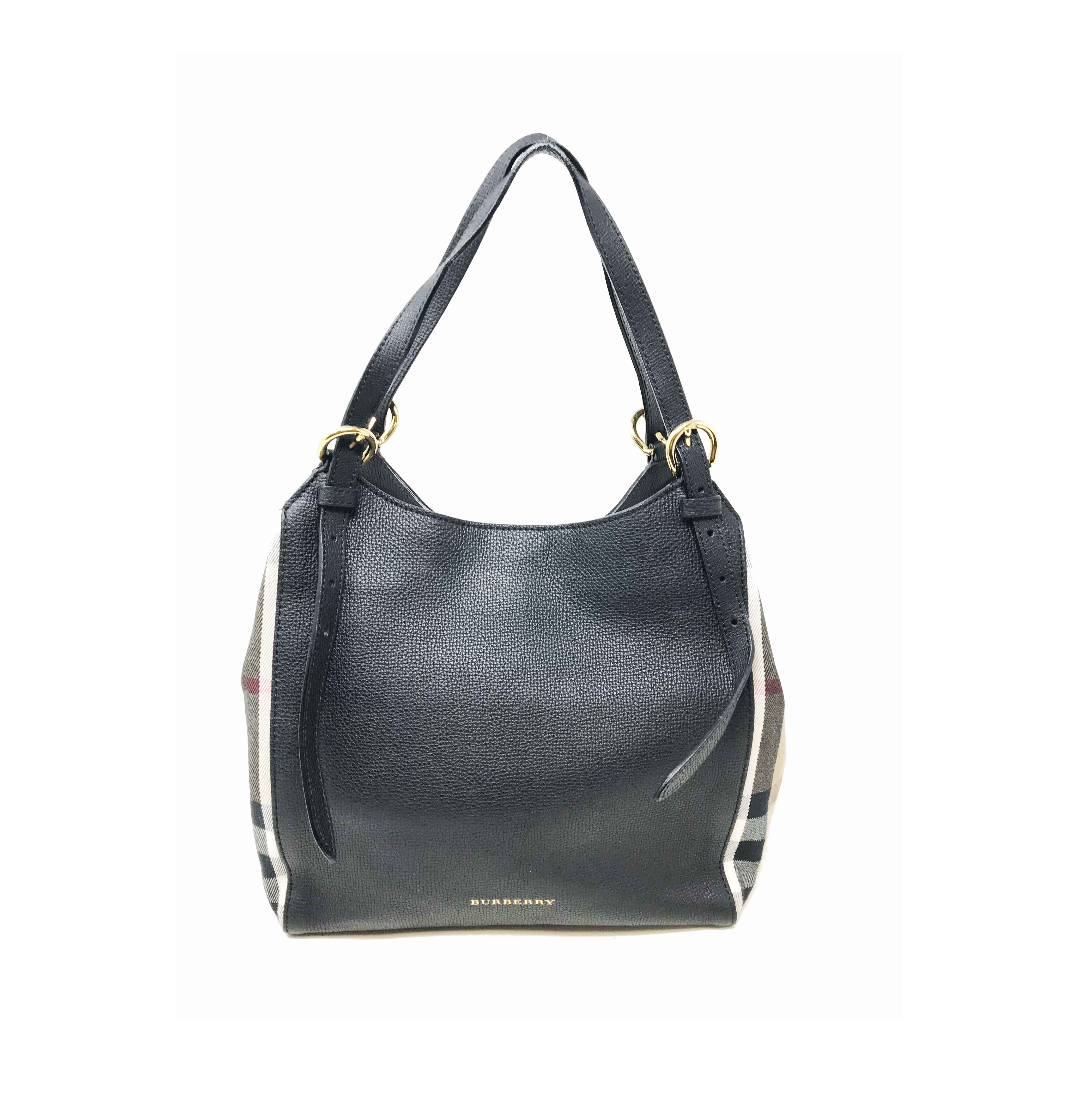 f8d2e286aff Burberry 39589751 The Small Canter in Leather and House Check Ladies Tote  Bag
