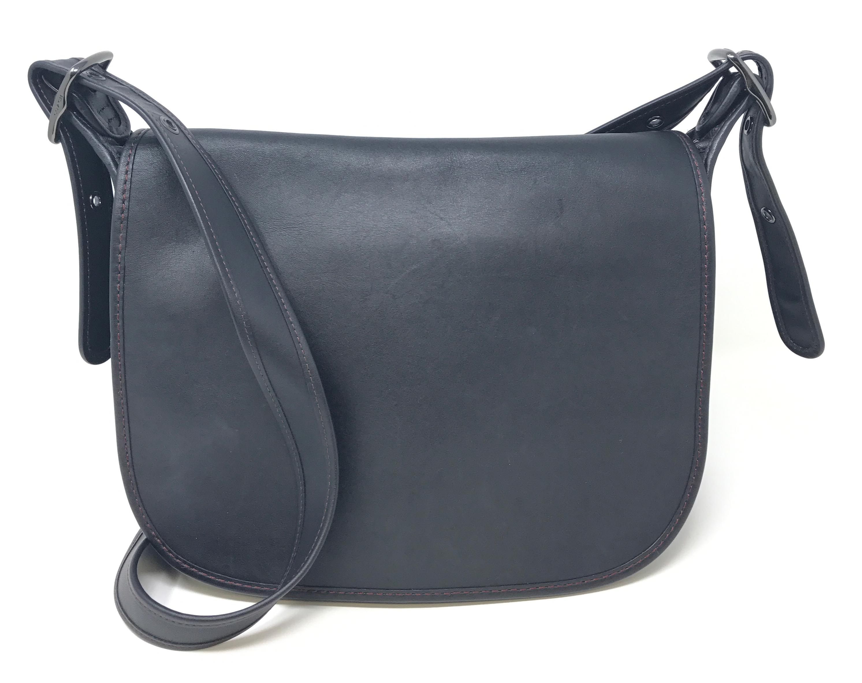 996dc68cb ... ireland coach saddle bag glovetanned leather nickle black 55298 womens  bag 77b55 59d7c ...