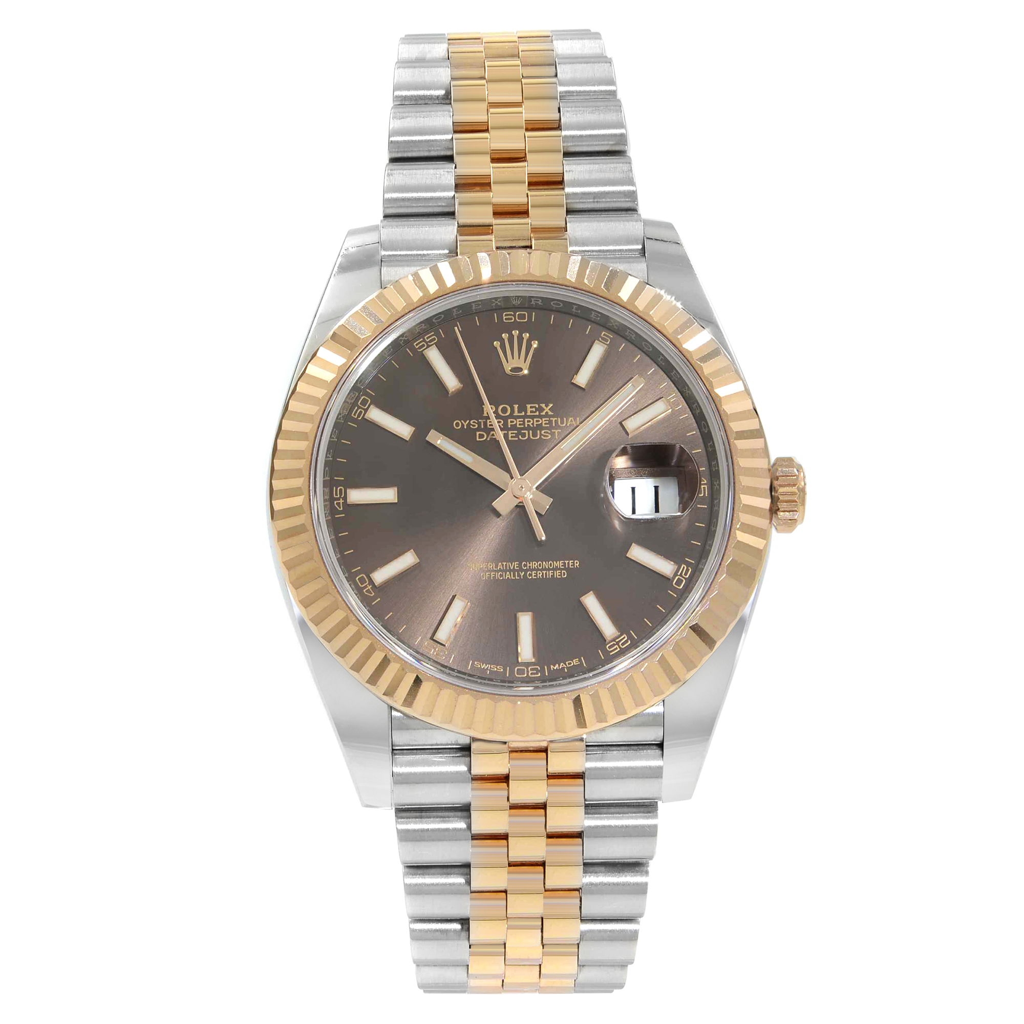 8cd1fec0e23a7 Details about Rolex Datejust 41 Steel 18K Rose Gold Chocolate Dial  Automatic Mens Watch 126331