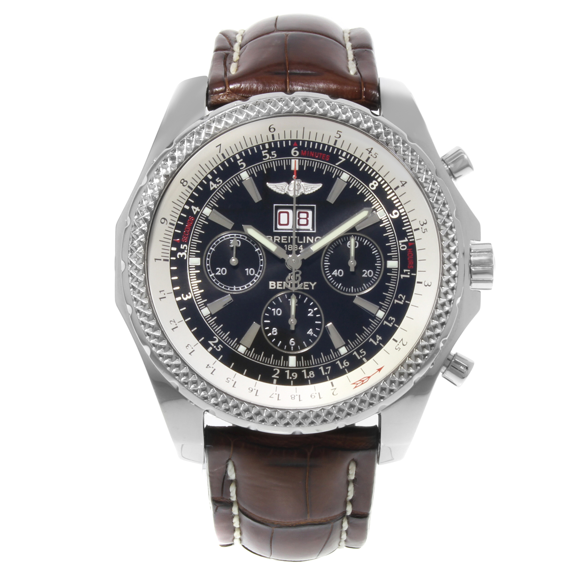 Breitling Stainless Steel Bentley Automatic Wristwatch Ref: Breitling Bentley 6.75 A44362 Stainless Steel Automatic